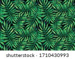 a pattern of bright tropical... | Shutterstock . vector #1710430993