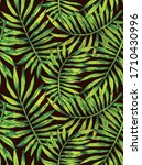 a pattern of bright tropical... | Shutterstock . vector #1710430996