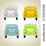colored cars | Shutterstock .eps vector #171043268