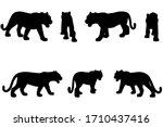 7 black and white set vector...   Shutterstock .eps vector #1710437416