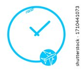 travel time  clock  watch icon. ...