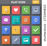 vector application web icons... | Shutterstock .eps vector #171044810