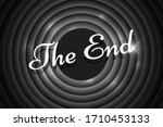 the end handwrite title on... | Shutterstock .eps vector #1710453133