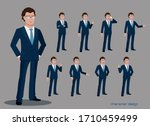 office man worker character... | Shutterstock .eps vector #1710459499