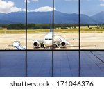 airplane ready for boarding | Shutterstock . vector #171046376