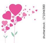 hearts tree | Shutterstock .eps vector #171046580