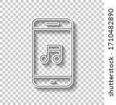 mobile phone and music note ...