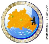 button with city map from... | Shutterstock . vector #171048644