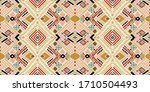 seamless floral pattern folk... | Shutterstock .eps vector #1710504493
