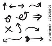 hand drawn arrow illustration... | Shutterstock .eps vector #171050903
