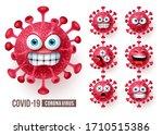 corona virus emoticons vector... | Shutterstock .eps vector #1710515386
