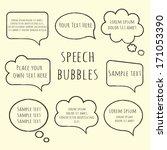 speech bubble collection. set... | Shutterstock .eps vector #171053390