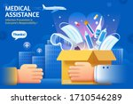 concept of donating medical... | Shutterstock .eps vector #1710546289