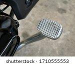 Detail Of Motorcycle Foot Brake.
