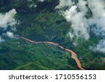 Aerial View Of The River Mekong ...