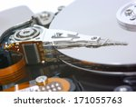 computer hard disk drive  close ... | Shutterstock . vector #171055763