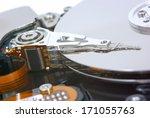 computer hard disk drive  close ... | Shutterstock . vector #171055763