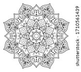 Circular Flower Mandala With...