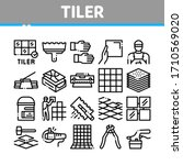 tiler work equipment collection ... | Shutterstock .eps vector #1710569020