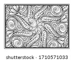 black and white decorative...   Shutterstock .eps vector #1710571033