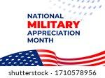 national military appreciation... | Shutterstock .eps vector #1710578956
