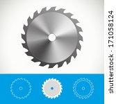 circular saw vector icon design ... | Shutterstock .eps vector #171058124