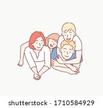 beautiful and happy smiling... | Shutterstock .eps vector #1710584929