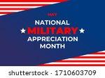 national military appreciation... | Shutterstock .eps vector #1710603709