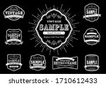 set of retro vintage badges and ... | Shutterstock .eps vector #1710612433