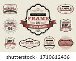 set of retro vintage badges and ...   Shutterstock .eps vector #1710612436