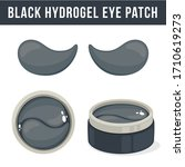 black hydrogel eye patches.... | Shutterstock .eps vector #1710619273