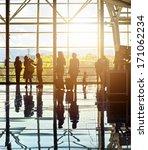 silhouettes of unrecognizable... | Shutterstock . vector #171062234