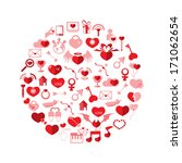 template circle valentine's day ... | Shutterstock .eps vector #171062654