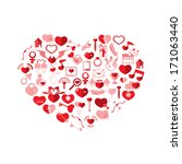 the heart valentine's day  love ... | Shutterstock .eps vector #171063440