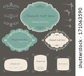 calligraphic design elements... | Shutterstock .eps vector #171063590