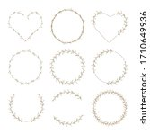 minimal flower bud heart and...   Shutterstock .eps vector #1710649936