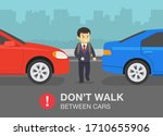 driving car. school kid... | Shutterstock .eps vector #1710655906