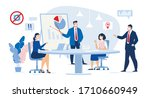 business meeting in conference... | Shutterstock .eps vector #1710660949