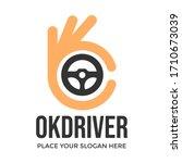 ok driver vector logo template. ... | Shutterstock .eps vector #1710673039