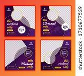 modern weekend sell social...   Shutterstock .eps vector #1710677539