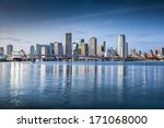 miami  florida  usa downtown... | Shutterstock . vector #171068000