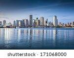 miami  florida  usa downtown... | Shutterstock . vector #171068000