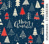 merry christmas  happy new year ... | Shutterstock .eps vector #1710682306