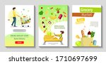 set of banners for grocery... | Shutterstock .eps vector #1710697699