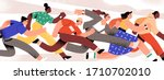 group of colorful runners... | Shutterstock .eps vector #1710702010