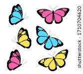 A Set Of Bright Butterflies...