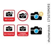 no photos  no cameras  no flash ...   Shutterstock .eps vector #1710709093