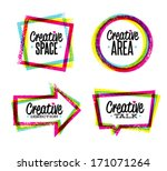 creative space  art  direction  ... | Shutterstock .eps vector #171071264