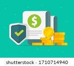 financial guarantees money... | Shutterstock .eps vector #1710714940