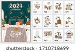wall calendar. 2021 yearly... | Shutterstock .eps vector #1710718699